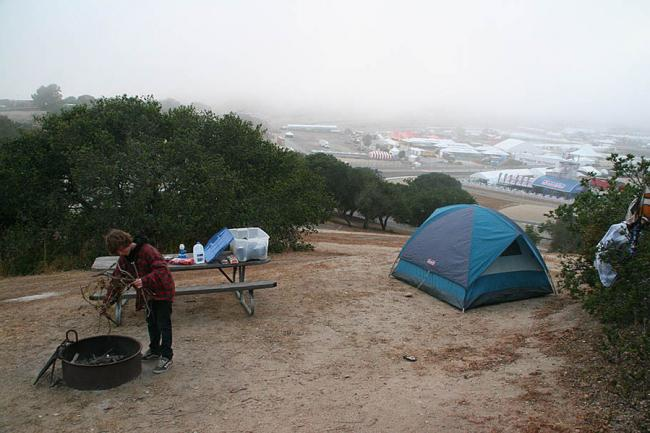 Camp at Laguna Seca