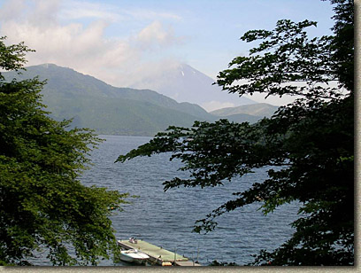 Lake Ashi with Mt Fuji In the background to the north