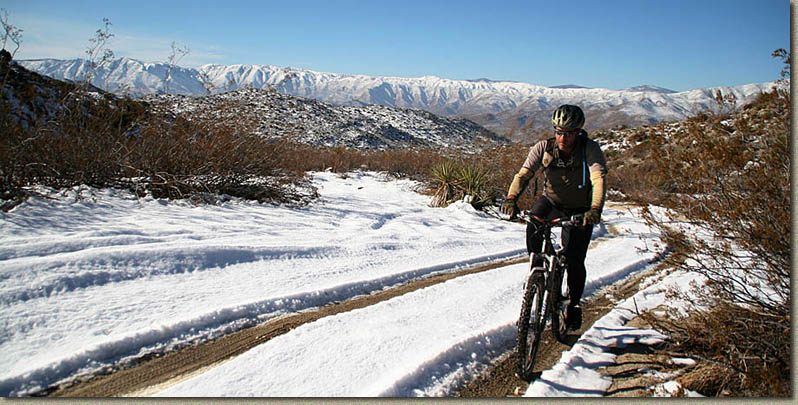 Mountain Biking From Pinyon Mountain To Split Moutain In The Anza