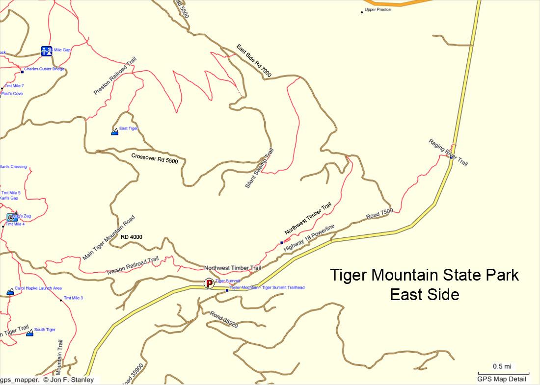 Mountain Biking On Tiger Mountain Near Seattle WA