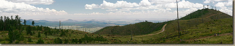 Pan shot from the top of Mount Elden in Flagstaff.