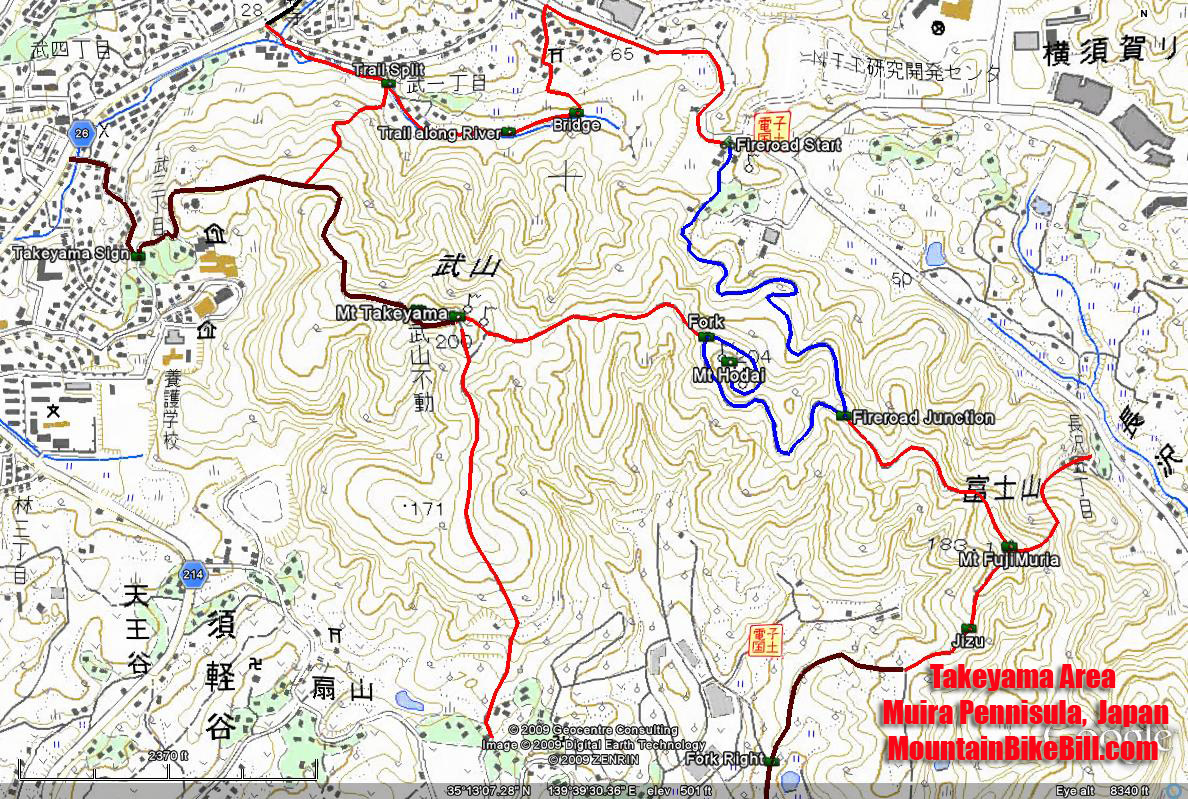 Mountain Biking Takeyama on the Muria Pennisula of Japan on
